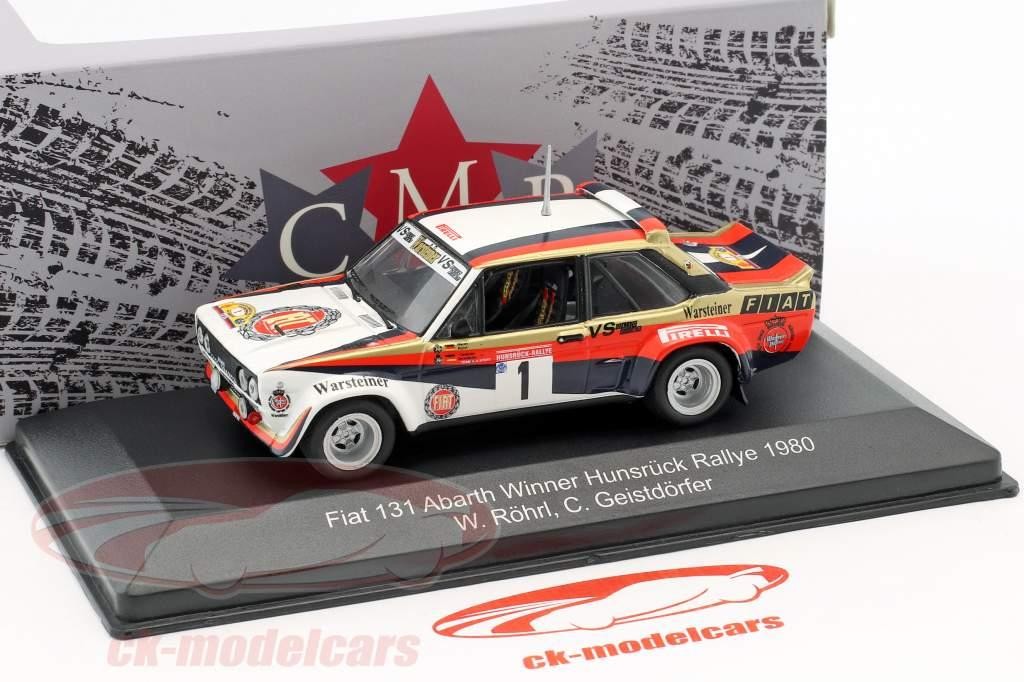 Fiat 131 Abarth #1 winnaar Hunsrück Rallye 1980 Röhrl, Geistdörfer 1:43 CMR