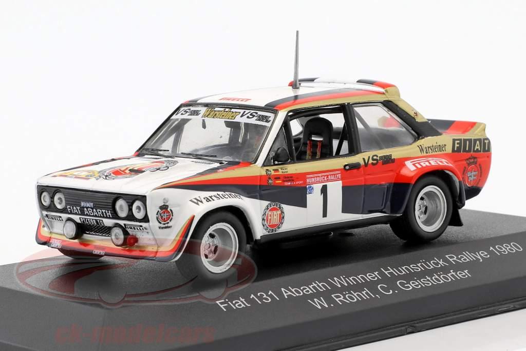 Fiat 131 Abarth #1 gagnant Hunsrück Rallye 1980 Röhrl, Geistdörfer 1:43 CMR