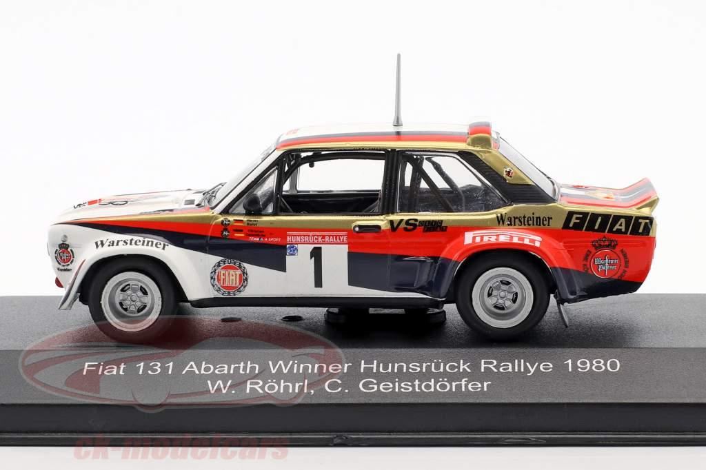 Fiat 131 Abarth #1 vincitore Hunsrück Rallye 1980 Röhrl, Geistdörfer 1:43 CMR