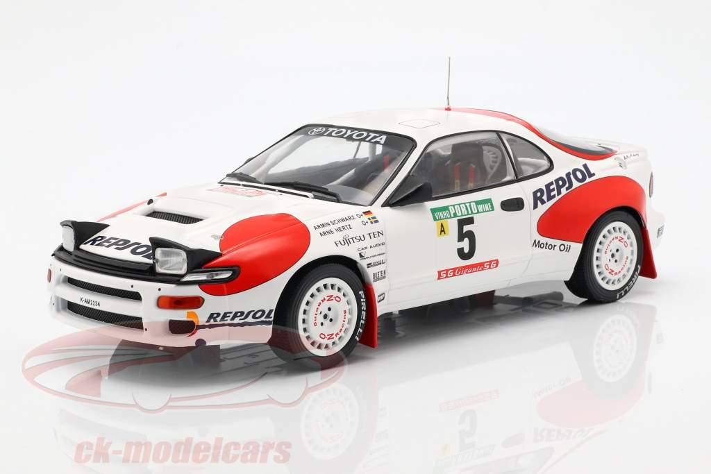 Toyota Celica GT-4 (ST185) #5 Rallye Portugal 1992 Schwarz, Hertz 1:18 Ixo