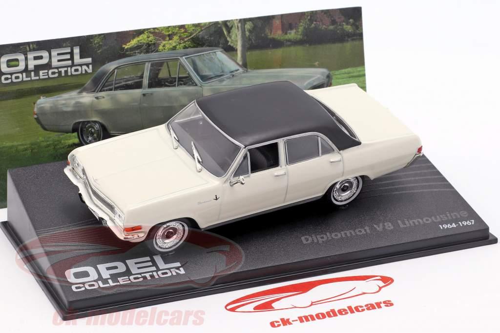 Opel Diplomat V8 Limousine Año 1964 blanco con negro Techo 1:43 Ixo Altaya