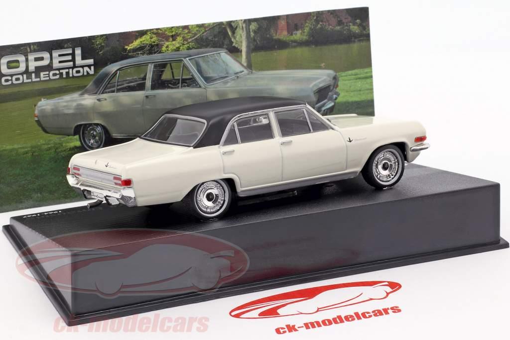 Opel Diplomat V8 Limousine Anno 1964 bianco con nero Tetto 1:43 Ixo Altaya