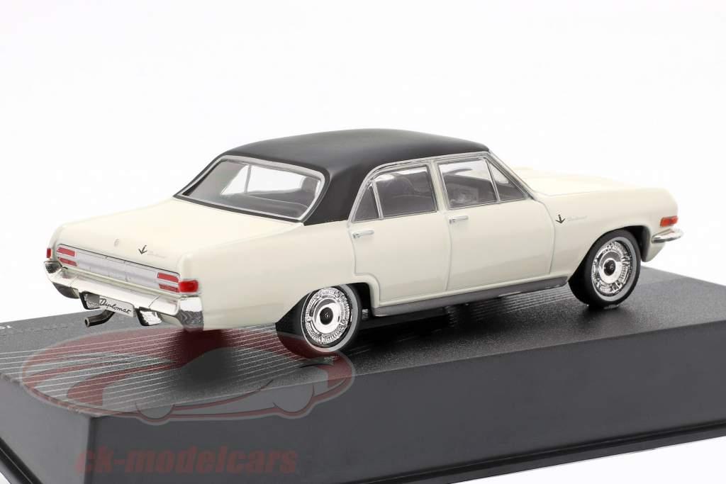 Opel Diplomat V8 Limousine Année 1964 blanc avec noir Toit 1:43 Ixo Altaya