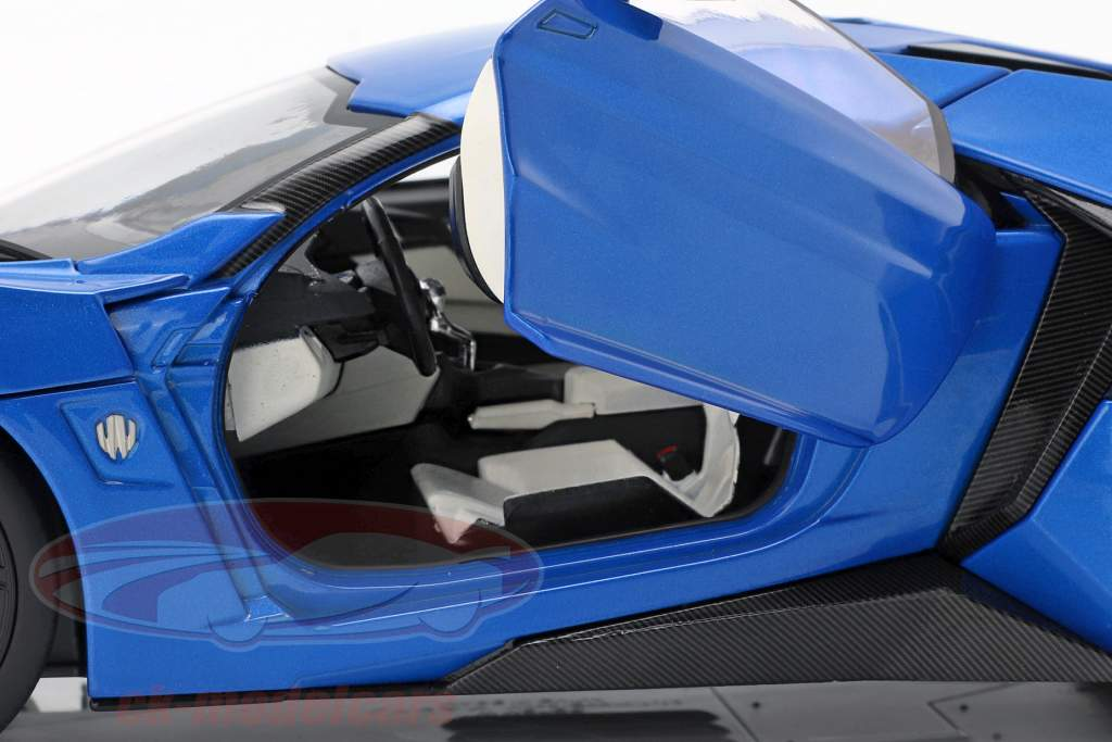 Lykan Hypersport Baujahr 2014-2016 blau 1:18 Schuco