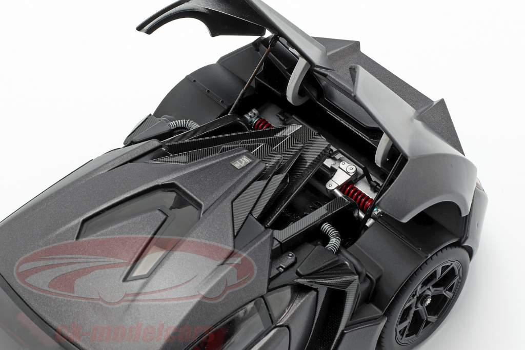 Lykan Hypersport Baujahr 2014-2016 mattgrau 1:18 Schuco