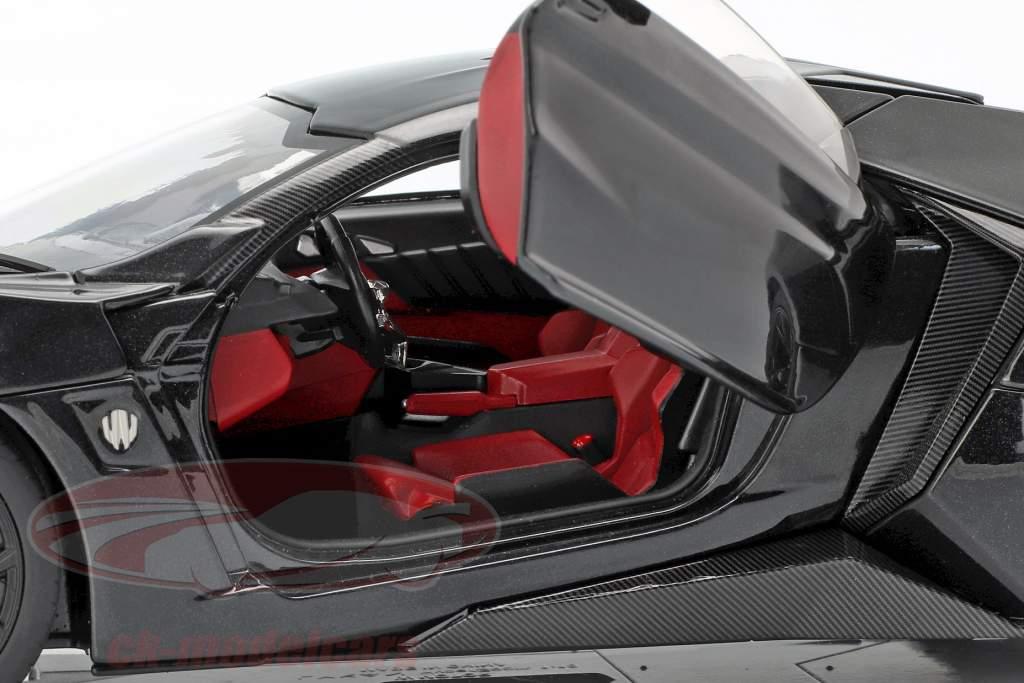 Lykan Hypersport año de construcción 2014-2016 negro 1:18 Schuco