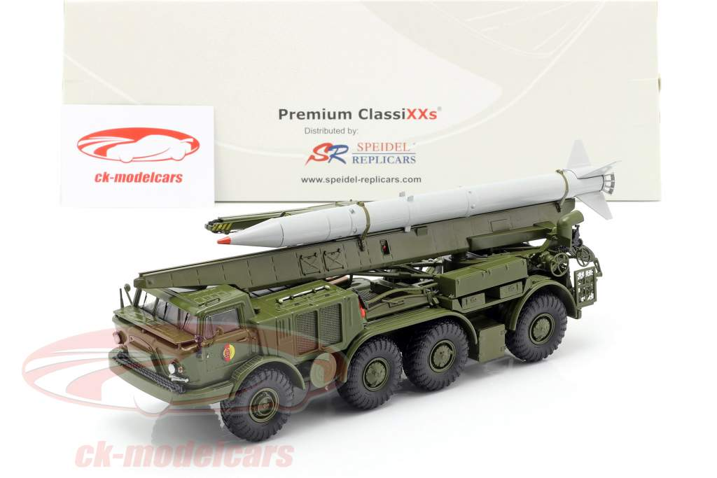 ZIL 135 (BAZ 135) NVA Raket transportvoertuig olijf / grijs 1:43 PremiumClassiXXs