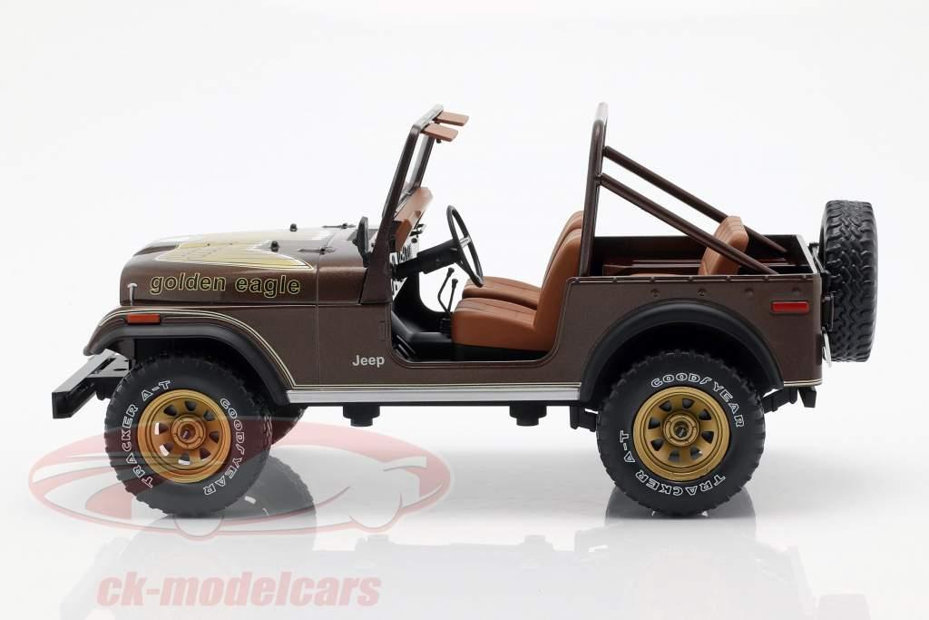 Jeep CJ-7 Golden Eagle year 1976 dark brown metallic 1:18 Model Car Group