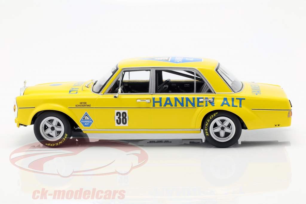 Mercedes-Benz 300 SEL 6.8 #38 Saisonfinale Hockenheim 1971 Heyer 1:18 Minichamps