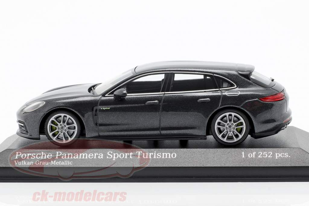Porsche Panamera Sport Turismo 4E-Hybrid 2017 cinza do vulcão metálico 1:43 Minichamps