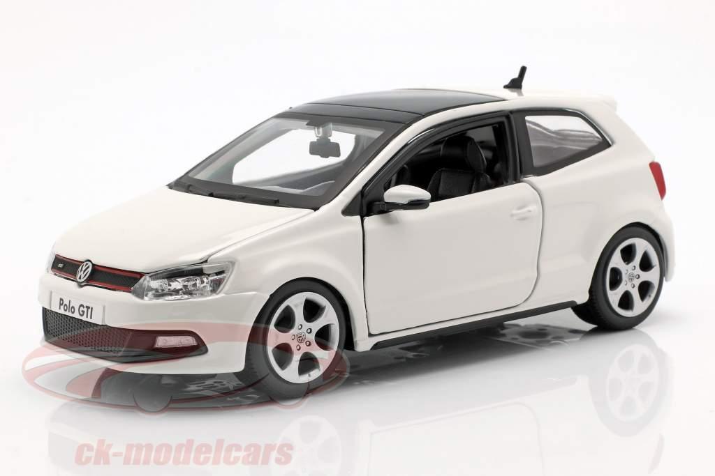 Volkswagen VW Polo MK5 GTI wit 1:24 Bburago
