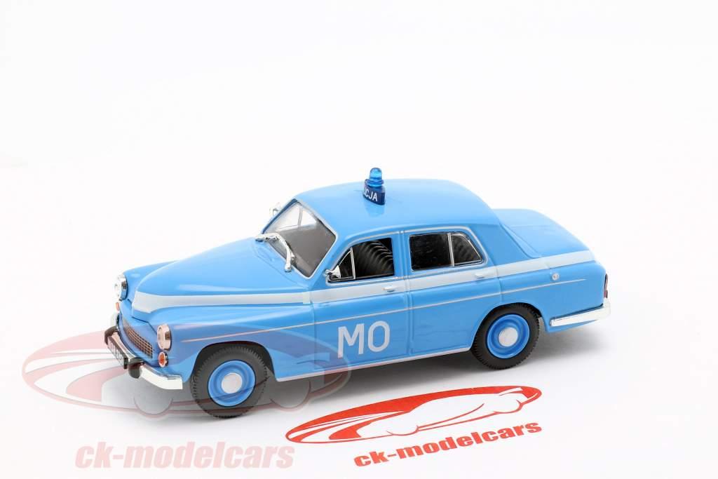 Warszawa 223 politi blå i vabel 1:43 Altaya