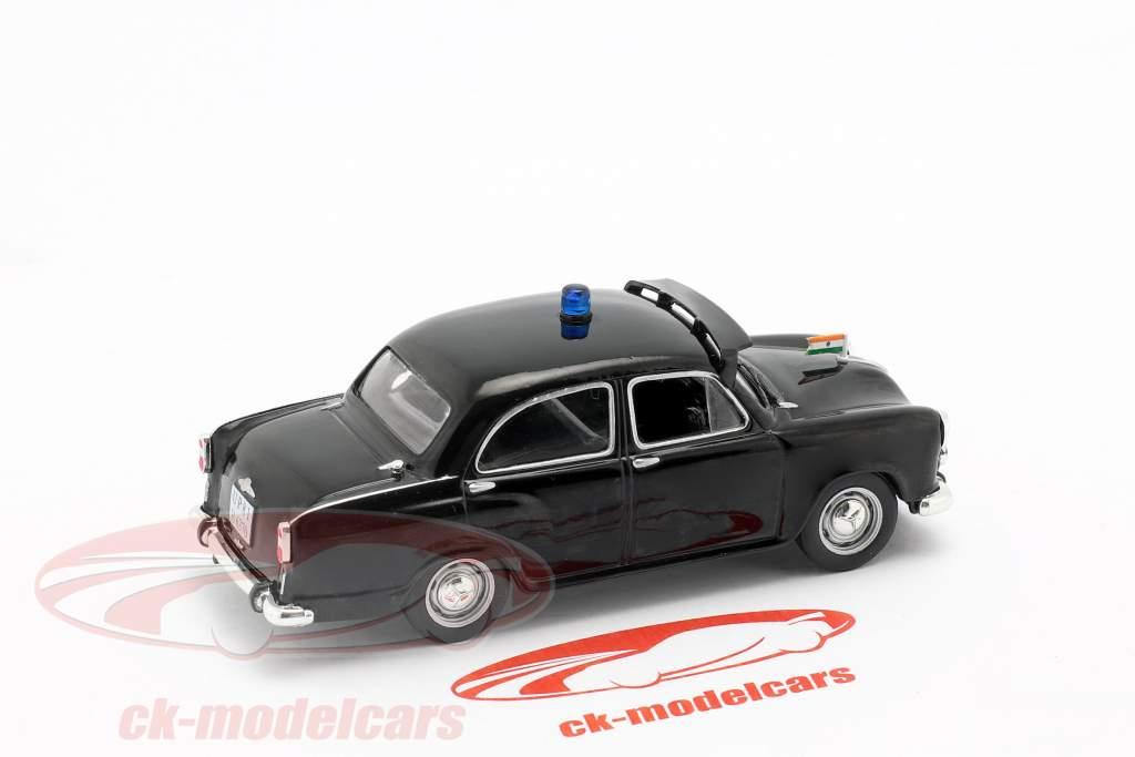 Hindustan Ambassador policía negro en ampolla 1:43 Altaya
