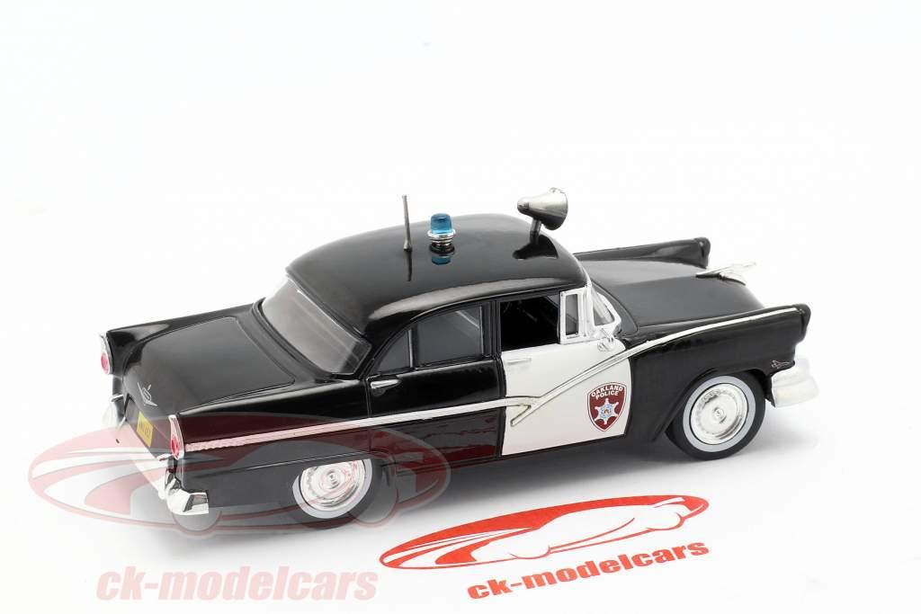Ford Fairlane Oakland Police negro / blanco en ampolla 1:43 Altaya