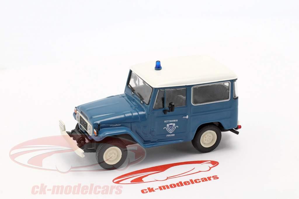 Toyota Land Cruiser FJ40 police bleu / blanc en cloque 1:43 Altaya