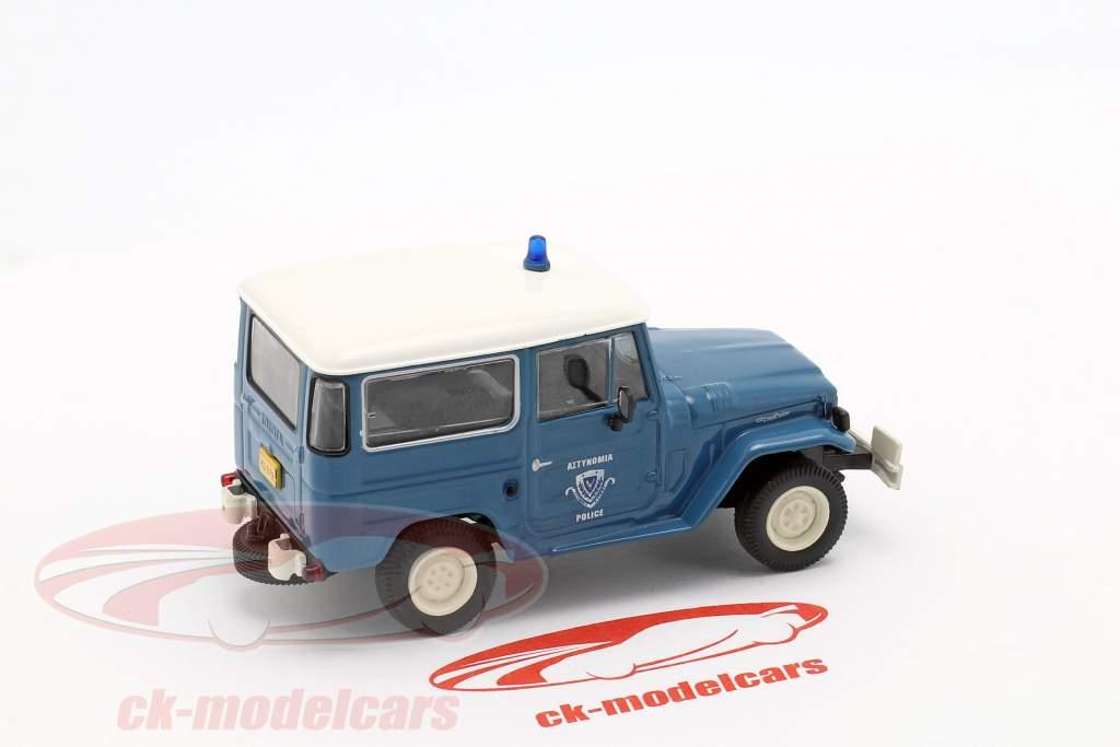 Toyota Land Cruiser FJ40 police blue / white in Blister 1:43 Altaya