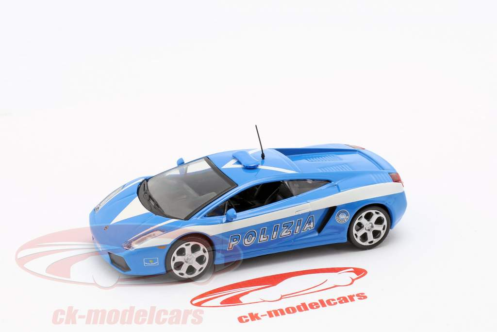 Lamborghini Gallardo Polizia azul / blanco 1:43 Altaya