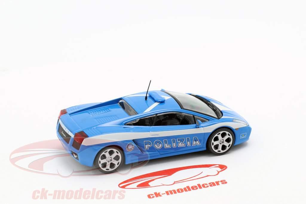 Lamborghini Gallardo Polizia blau / weiß 1:43 Altaya