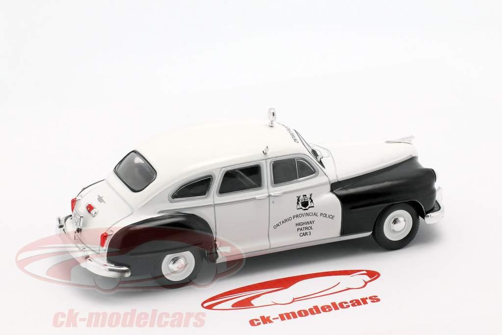 Chrysler De Soto Ontario Police blanc / noir en cloque 1:43 Altaya