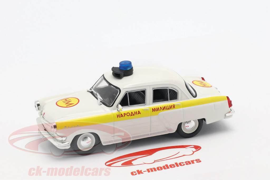 Wolga GAZ M21 Polizei weiß / gelb in Blister 1:43 Altaya