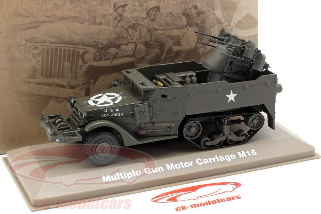 Multiple Gun Motor Carriage militare US Army scuro oliva 1:43 Atlas