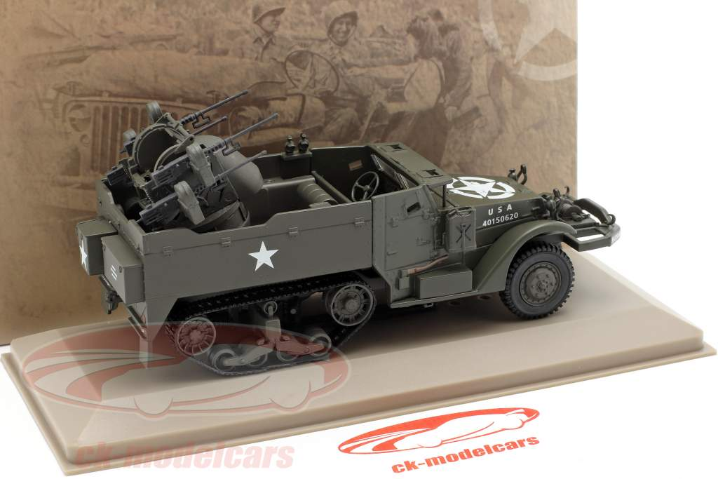 Multiple Gun Motor Carriage militar US Army oscuro oliva 1:43 Atlas