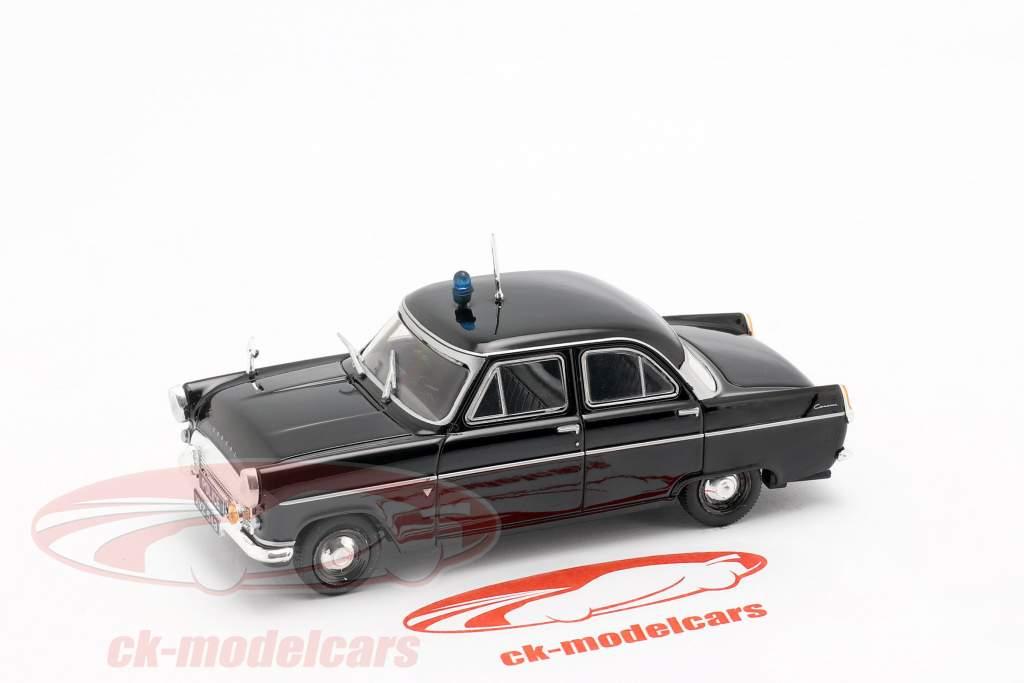 Ford Consul MK II polizia nero in bolla 1:43 Altaya