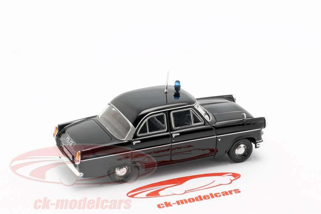 Ford Consul MK II polícia preto em bolha 1:43 Altaya