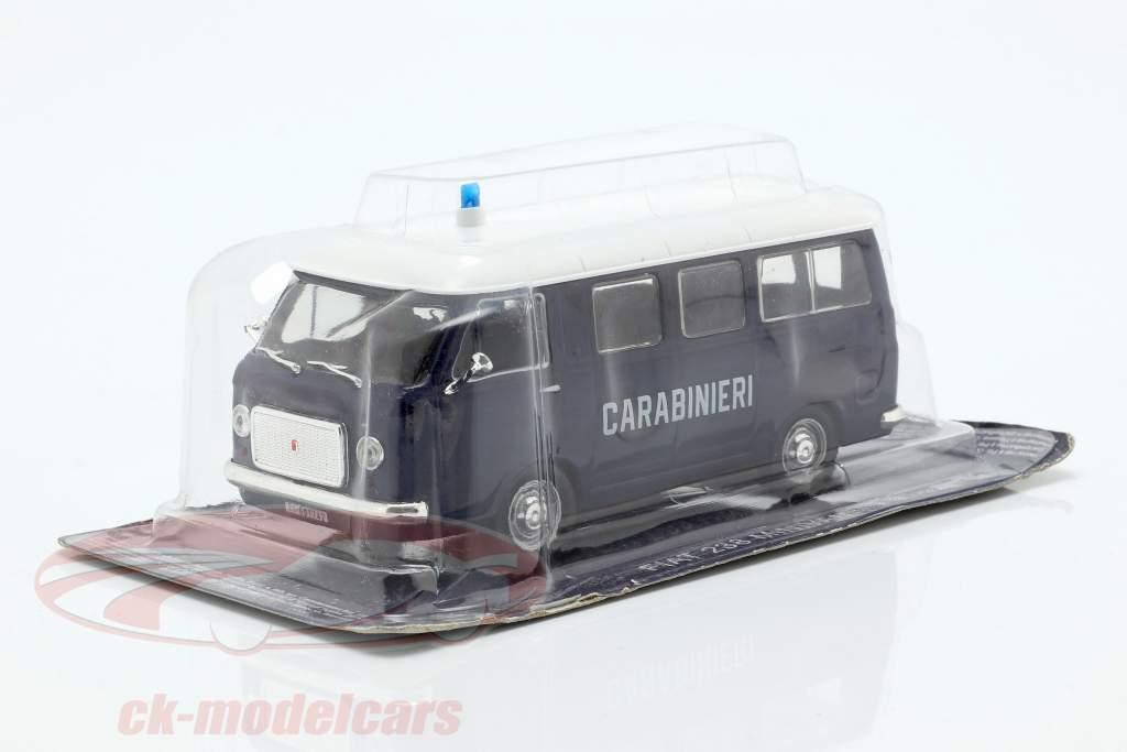Fiat 238 Minivan Carabinieri blauw / wit in blaar 1:43 Altaya