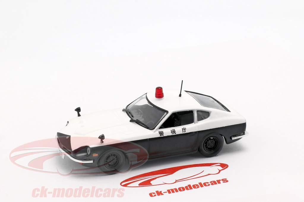 Datsun Fairlady 240 Z policía blanco / negro en ampolla 1:43 Altaya