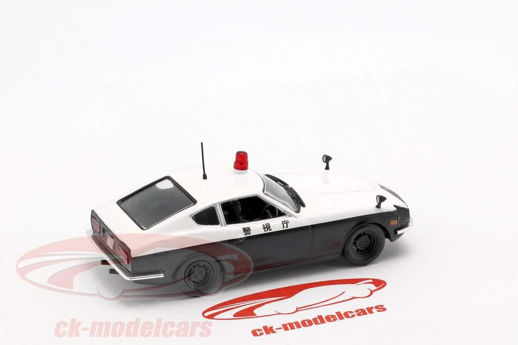 Datsun Fairlady 240 Z politie wit / zwart in blaar 1:43 Altaya
