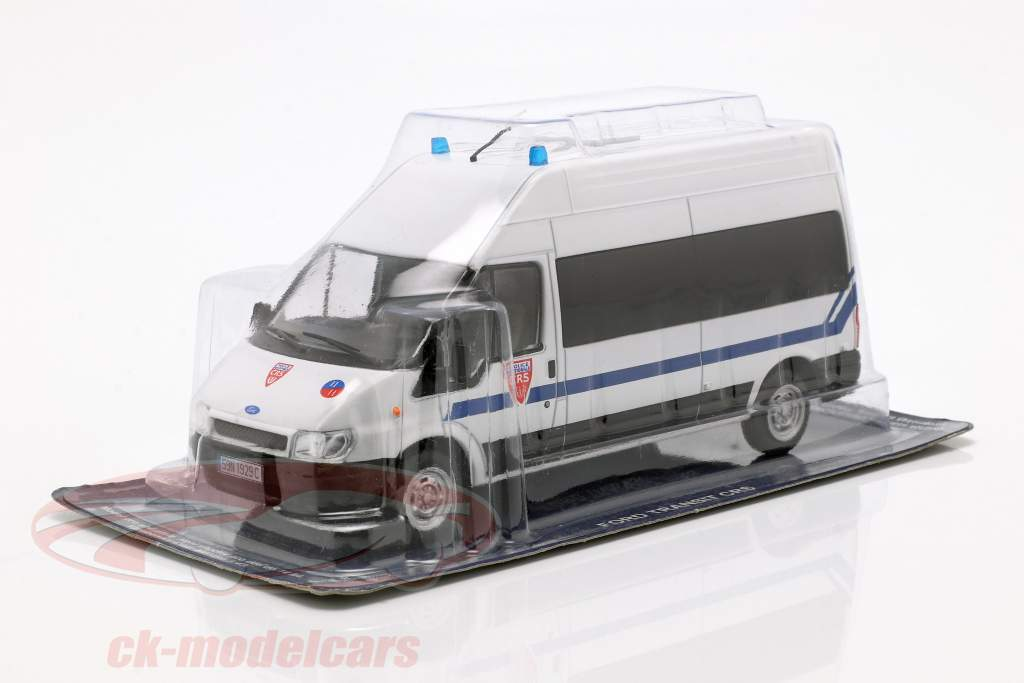 Ford Transit CRS Police Nationale white in Blister 1:43 Altaya