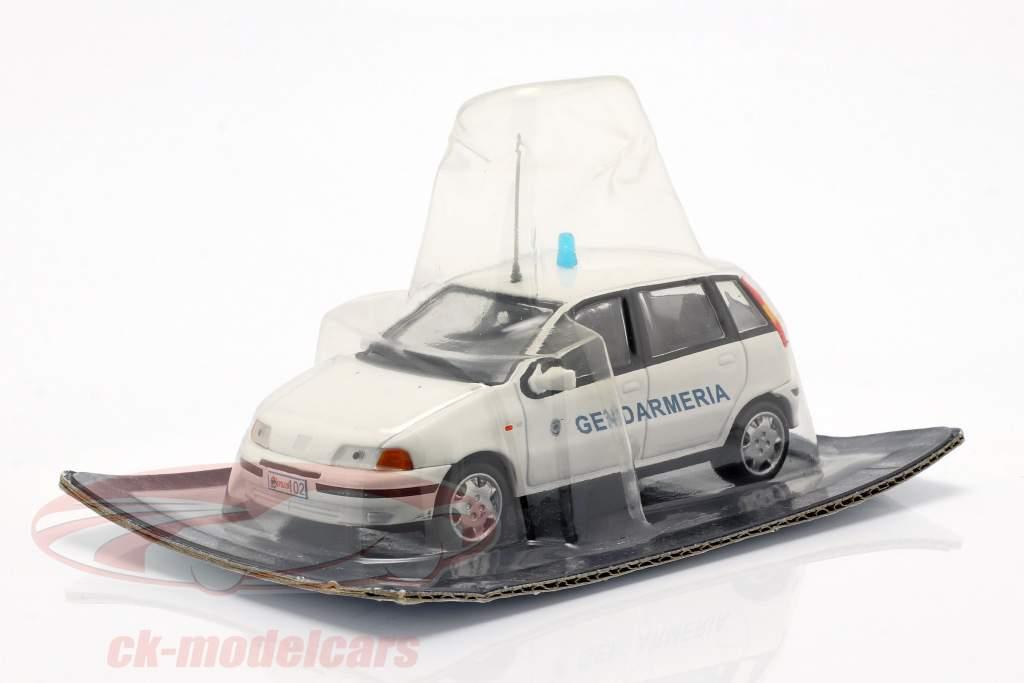 Fiat Punto Gendarmeria branco 1:43 Altaya