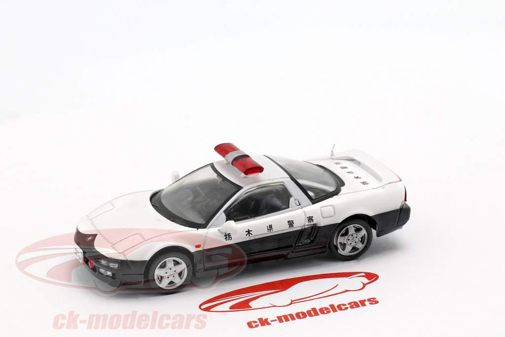 Honda NSX politi hvid / sort i vabel 1:43 Altaya