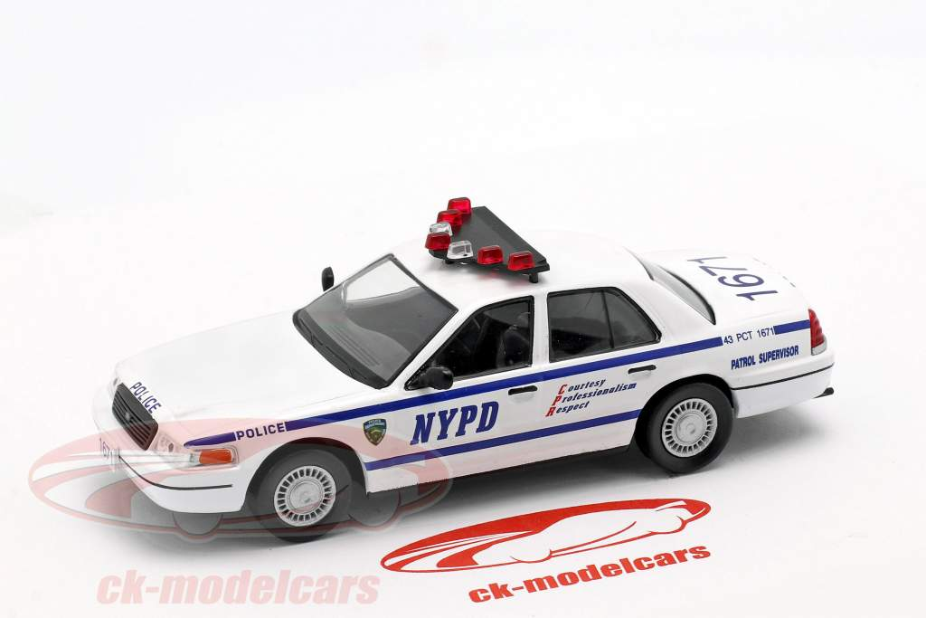 Ford Crown Victoria NYPD white / blue in Blister 1:43 Altaya