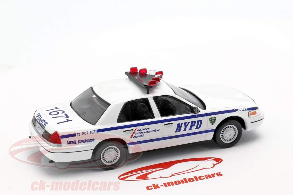 Ford Crown Victoria NYPD blanc / bleu en cloque 1:43 Altaya