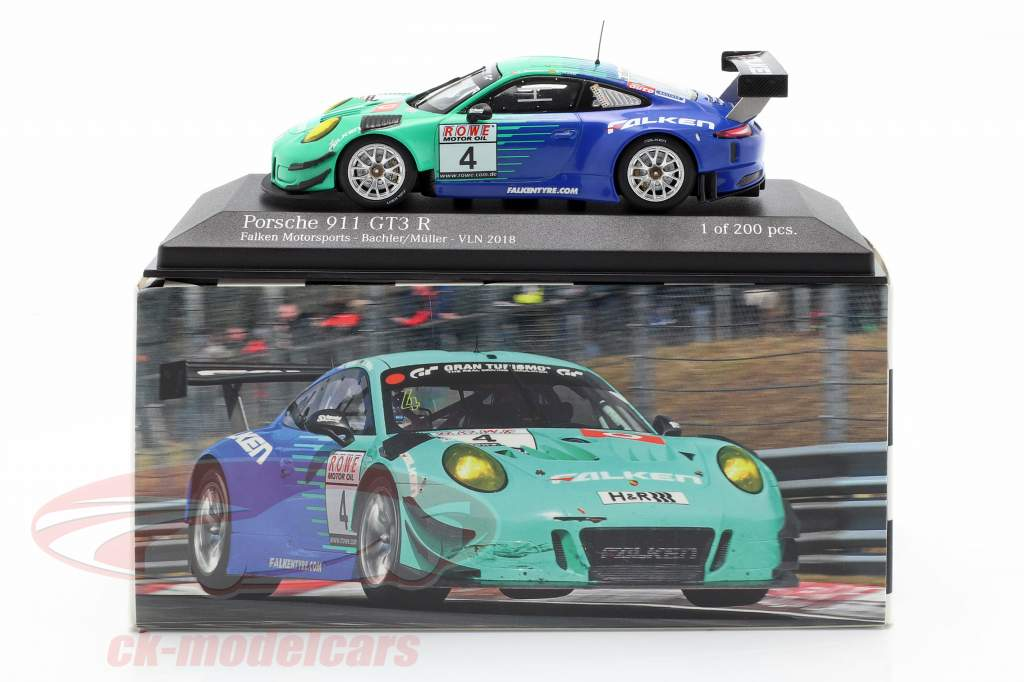 Porsche 911 (991) GT3 R #4 VLN 2018 Falken Motorsports 1:43 Minichamps