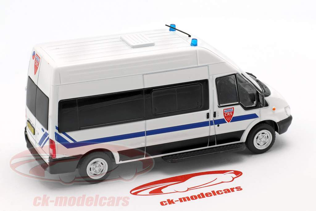 Ford Transit CRS Police Nationale bianco in bolla 1:43 Altaya
