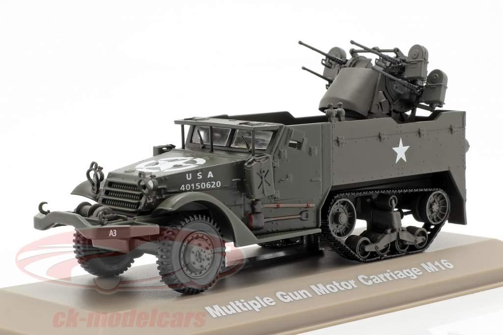 Multiple Gun Motor Carriage militair US Army donker olijf 1:43 Atlas