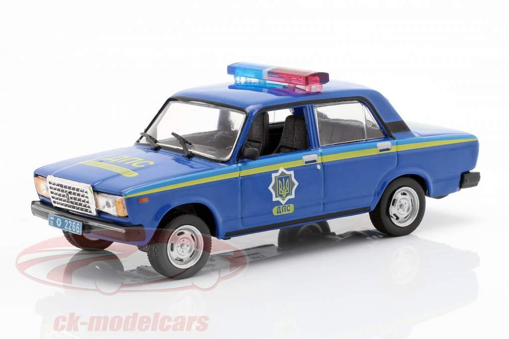 VAZ 2107 polizia blu in bolla 1:43 Altaya
