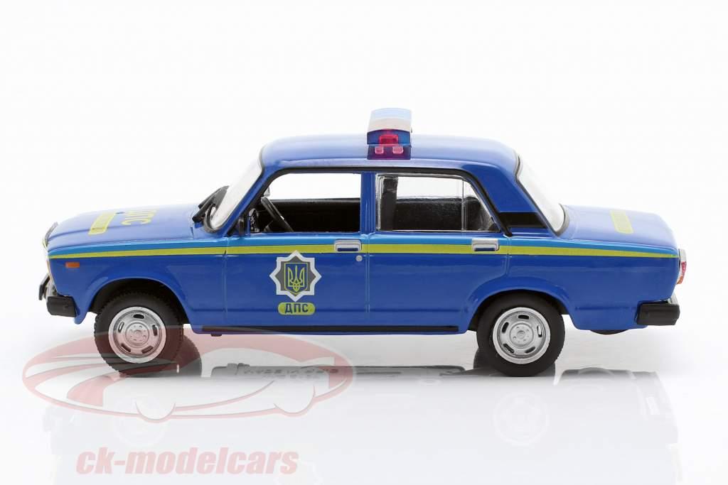 VAZ 2107 politie blauw in blaar 1:43 Altaya