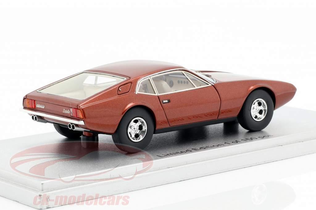 De Tomaso Zonda Bouwjaar 1971 bronzen metalen 1:43 KESS
