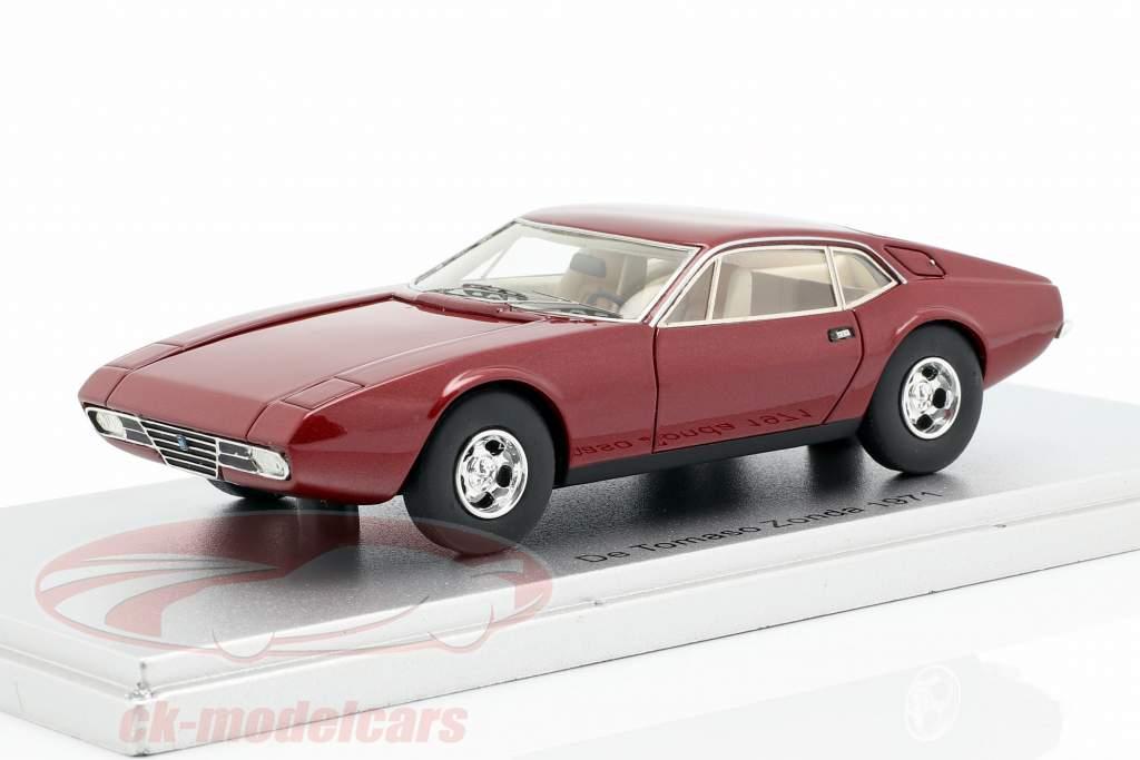 De Tomaso Zonda Baujahr 1971 dunkelrot metallic 1:43 KESS