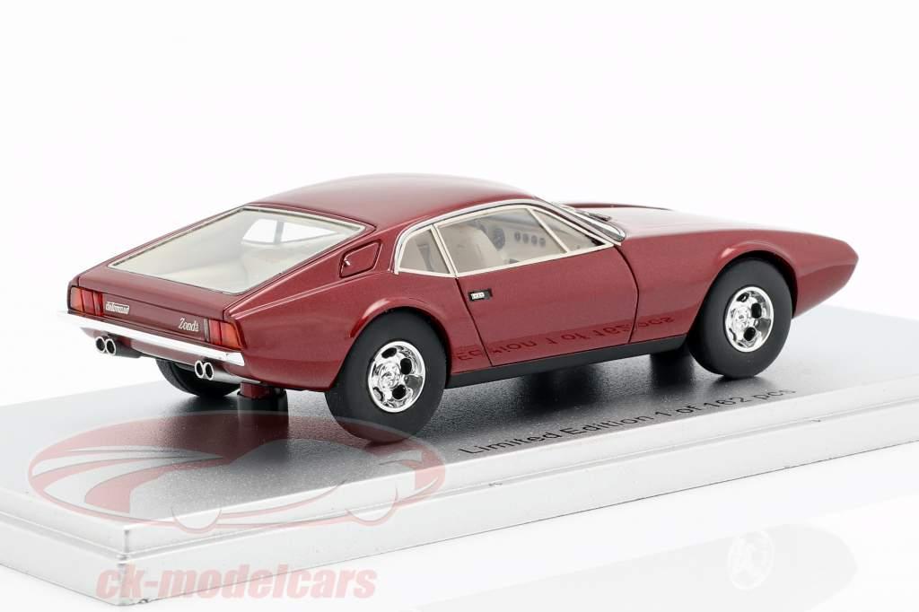 De Tomaso Zonda ano de construção 1971 escuro vermelho metálico 1:43 KESS