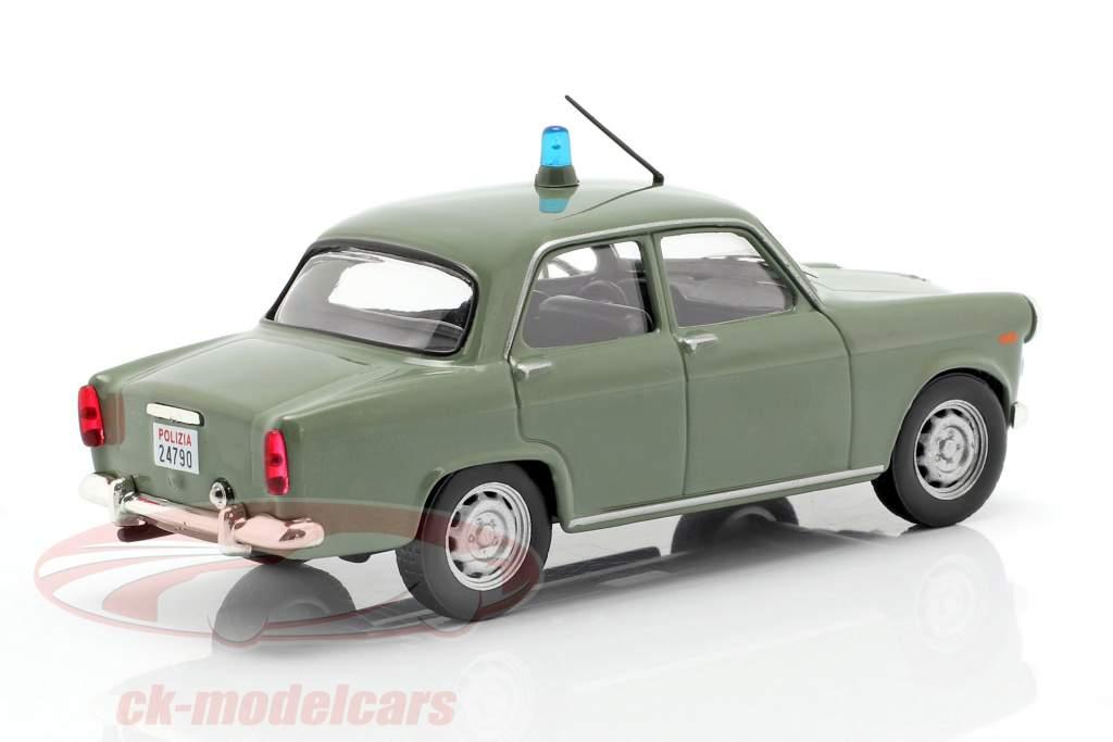 Alfa Romeo Giulietta polícia oliva em bolha 1:43 Altaya