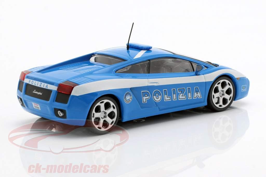 Lamborghini Gallardo Polizia blauw / wit 1:43 Altaya