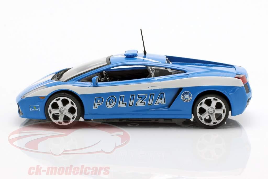 Lamborghini Gallardo Polizia azul / branco 1:43 Altaya