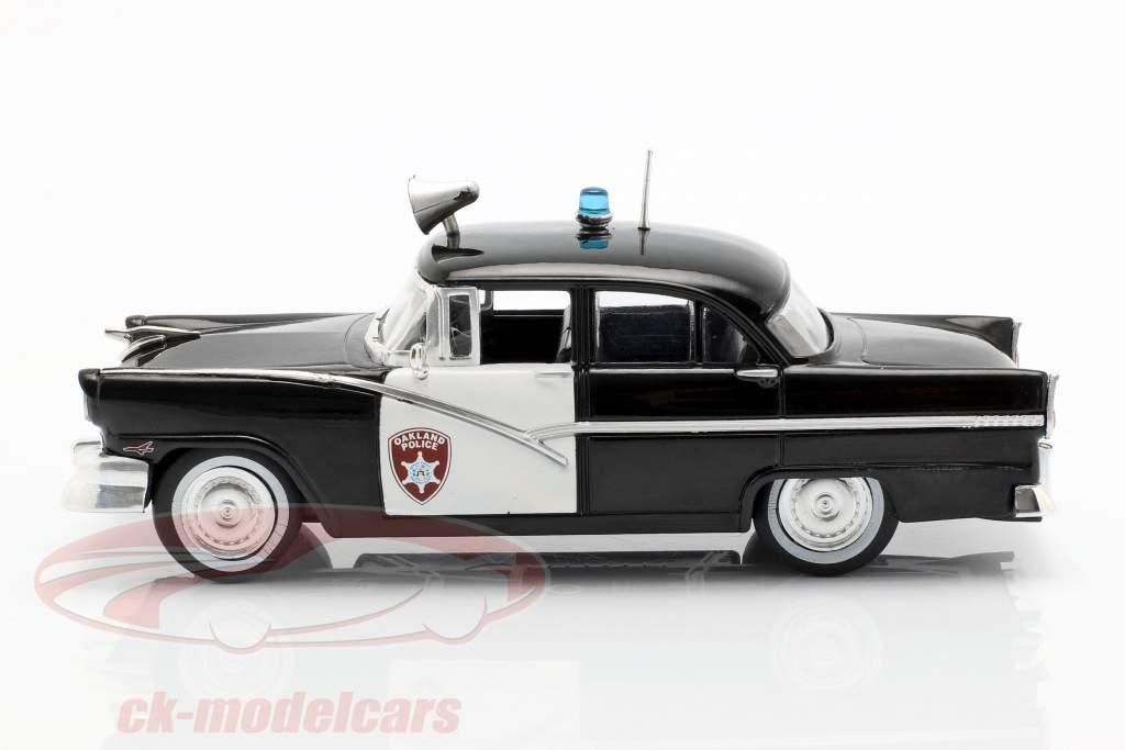 Ford Fairlane Oakland Police preto / branco em bolha 1:43 Altaya