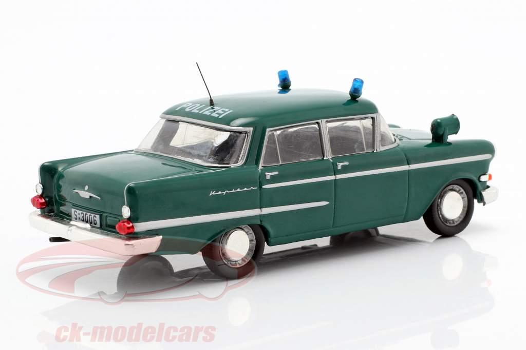 Opel Kapitän Polizei grün in Blister 1:43 Altaya