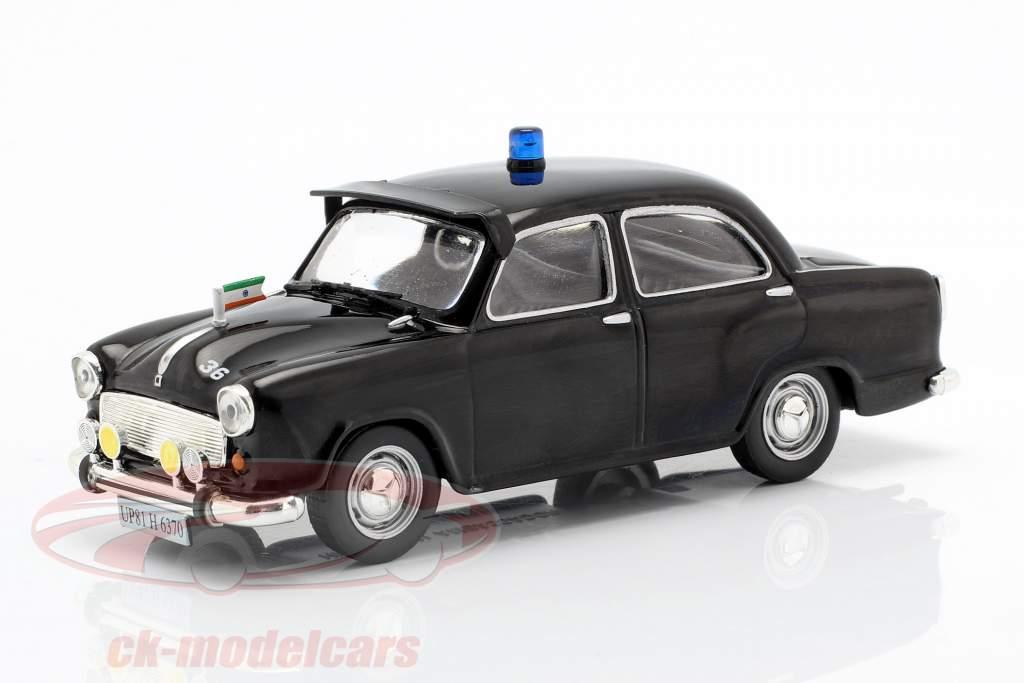 Hindustan Ambassador Polizei schwarz in Blister 1:43 Altaya